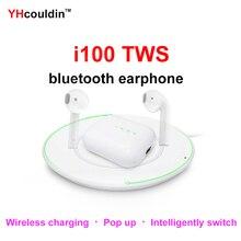 i100 TWS Original 1:1 Smart Sensor Pop Up Wireless Bluetooth Earphone With Charging
