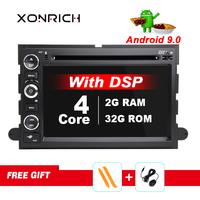 DSP 2 Din Android 9 Car DVD Player For Ford F150 F350 F450 F550 F250 Fusion Expedition Mustang Explorer Edge screen Radio Stereo