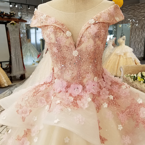 Image 4 - LS6669 цвет кружева 3d цветы вечернее платье колпачок рукав o образным вырезом зашнуровать вверх платье для бальное платье для прекрасной китайской оптовой продажи