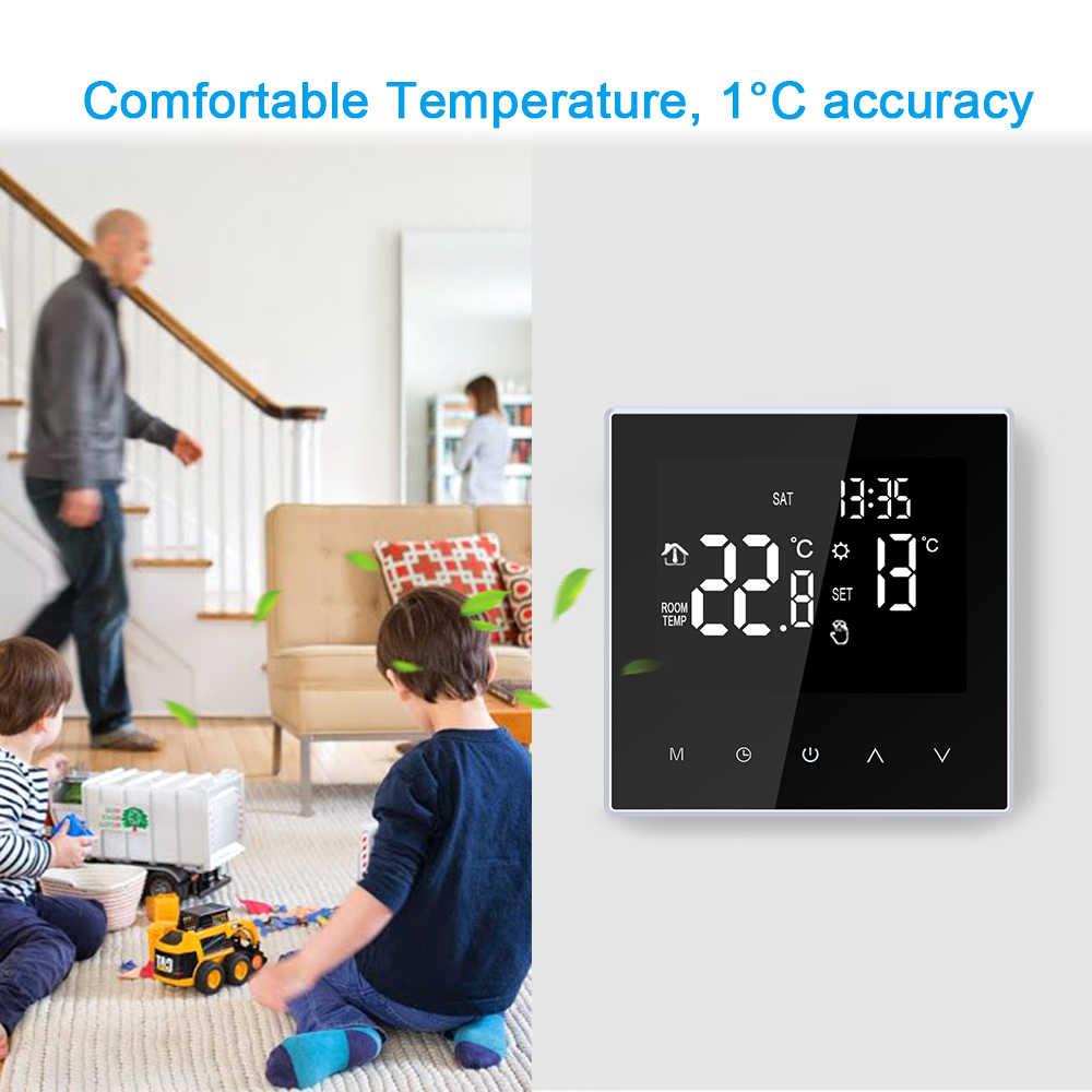 Akıllı Wifi termostat dijital sıcaklık kontrol cihazı haftalık programlanabilir elektrikli yerden ısıtma Termostato ev ofis için