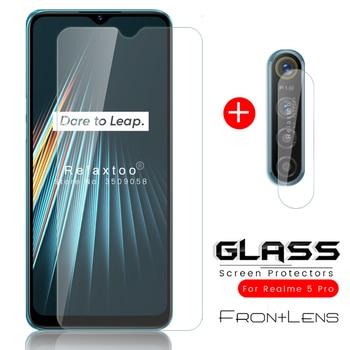 Перейти на Алиэкспресс и купить Защитное стекло для камеры 2 в 1 realme 5 pro, Защитное стекло для oppo realme 5i, Защитная пленка для realme, для стекло, realmi 5, i s, 5pro