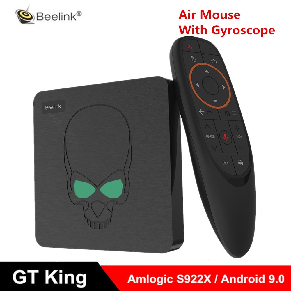 Beelink GT King Smart Android 9.0 TV Box Amlogic S922X 4GB 64GB 2.4G commande vocale 5.8G WiFi 1000Mbps décodeur prise en charge 4K