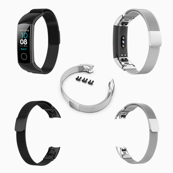 Metal Wrist Strap For Hua wei Honor Band 5 / 4 NFC Smart Wristband Milanese Stainless Steel Bracelet Watch Accessory