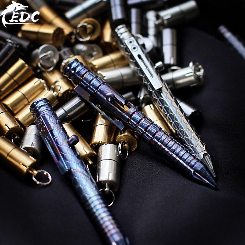 Limited Edition Dragon Scale FH Titanium Horse Tactical Pen Gun Bolt Type Gyro Defense Pen Zirconium Alloy / Titanium Alloy EDC