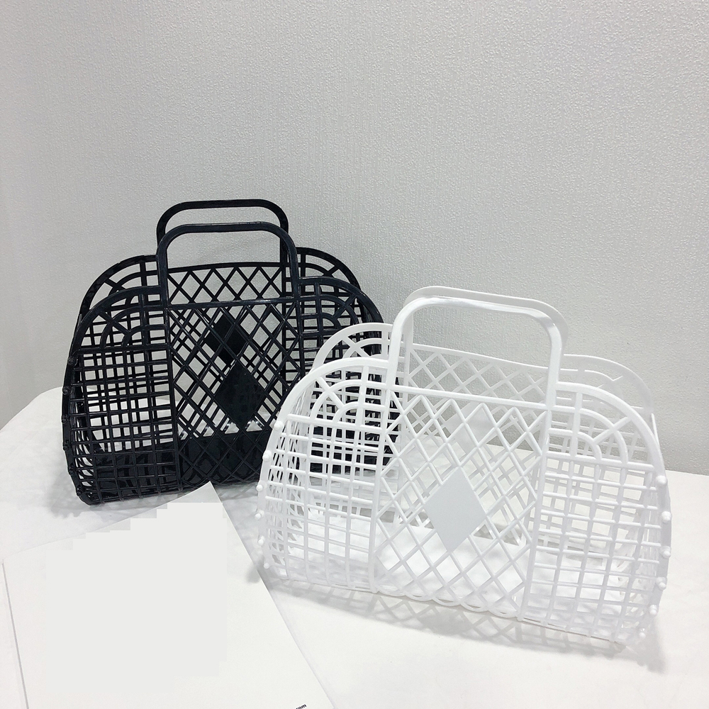 Summer Bag Small Refreshing Ins Super Hot Bag Portable Vegetable Basket Hollow Jelly Bag Large Capacity Holiday Package Girl