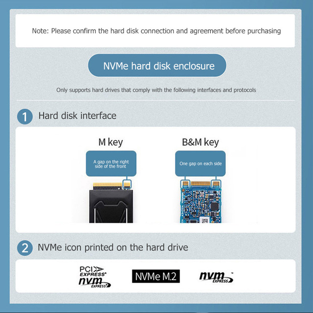 ORICO type-c M.2 NVME SSD portable boîtier en alliage daluminium USB3.1 10gbps externe solide boîte de vitesses pour 2230 2242 2260 2280