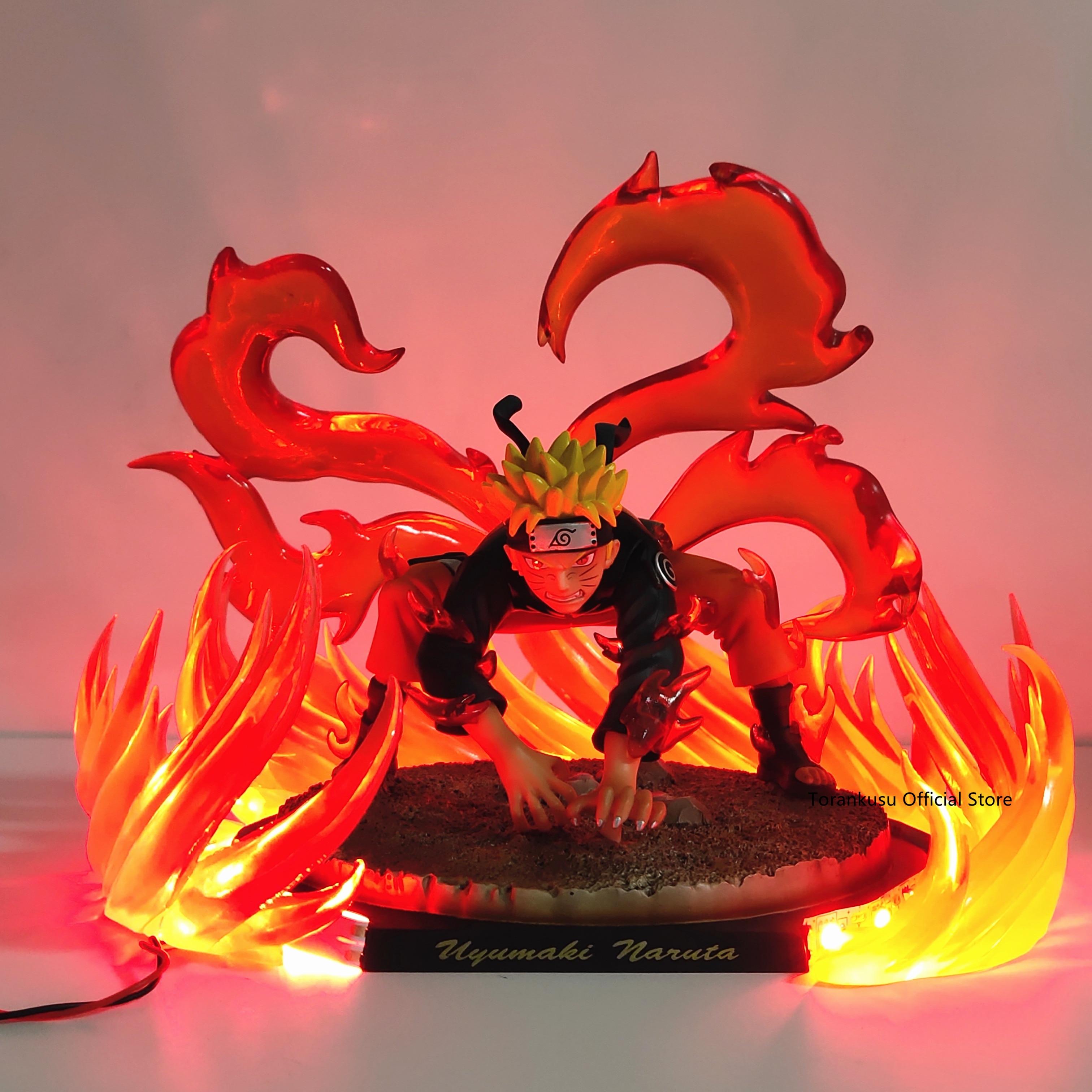 Naruto Kyuubi Nine Tails Led Power PVC Action Figure Toy Anime Naruto Shippuden Kyuubi Led Collectible Model Figure Toys