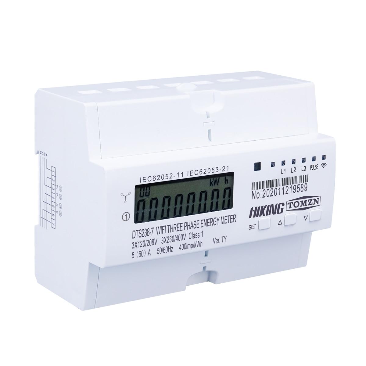 Wattmeter Energy 3 Power Monitor Timer 230V WIFI 50 Smart Meter Tuya Rail Din 120V Phase Consumption 3 Meter KWh 3 220V 60Hz 3