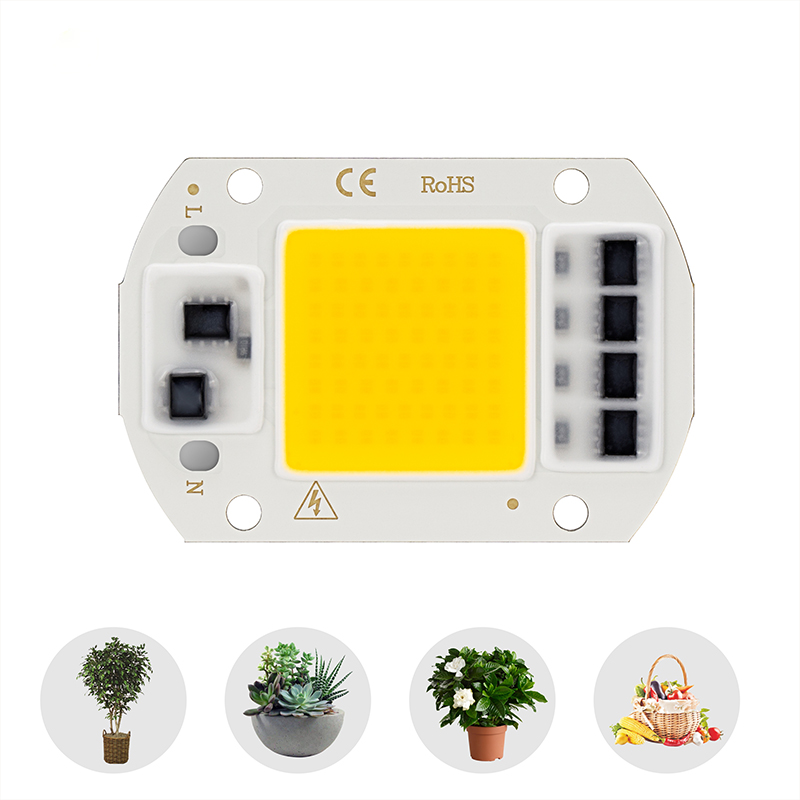 LED Phyto Lamp Chip 220V 10W 20W 30W 50W Grow Light Warm Cold White Smart IC Beads For House Plants Flowers Seeding Hydroponic