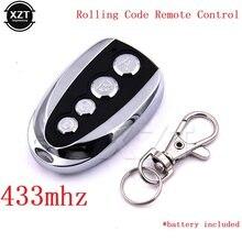 Control remoto universal para puerta de garaje, mando a distancia bonito con código, duplicador para coche, abridor con clonación, 433MHZ, enrollable, 4 llaves