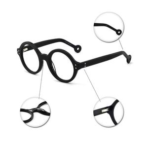 Image 5 - Gafas redondas Vintage para hombre y mujer, gafas de montura de Nerd, gafas graduadas ópticas