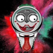 ジョーカー腕時計メンズトップブランドの高級ファッション人格合金クォーツ時計メンズ限定版デザイナー腕時計新到着2019