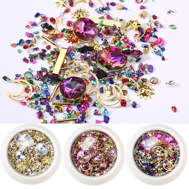 Микро Кристалл эпоксидная смола заполнение украшения Смешанные разбитые маленькие алмазные пески для DIY ногтей УФ смолы ювелирных изделий