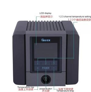 Image 4 - سريع TS1200A أفضل نوعية محطة لحام خالية من الرصاص الحديد الكهربائية 120 واط مكافحة ساكنة لحام 8 ثانية لحام سريع التدفئة