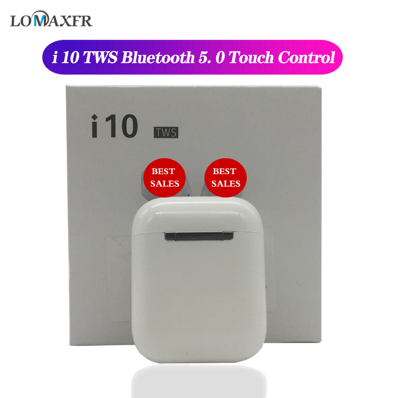 <font><b>i10</b></font> <font><b>tws</b></font> Wireless headphones in ear bluetooth Earphone noise cancelling Earbuds handsfree headset for iphone pk i12 i30 i7s i9s image