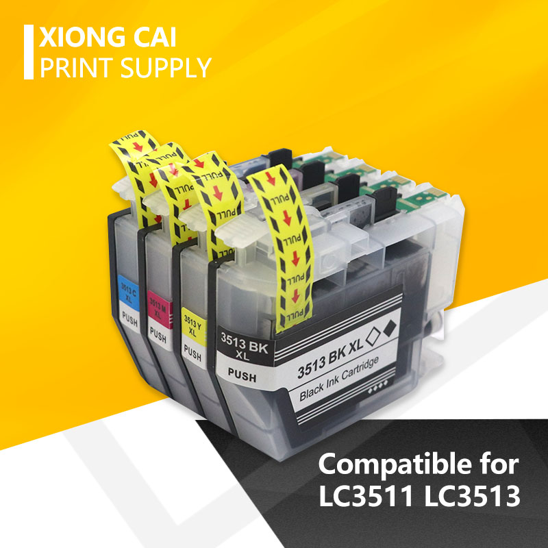4pcs LC3511 LC3513 Compatible Ink Cartridge For Brother MFC-J690DW MFC-J890DW DCP-J572DW