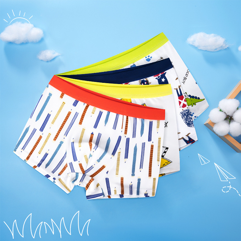 4 Pieces Boy's Underwear Briefs For Boy Children Kid Underpants Pure Cotton Boxer Baby Shorts Panties Panty Boys Kids Teenagers