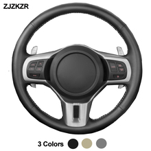 Car Auto Steering-Wheel Cover For Mitsubishi Lancer 10 EVO Evolution Outlander 2010 Braid on the Steering wheel Funda Volante