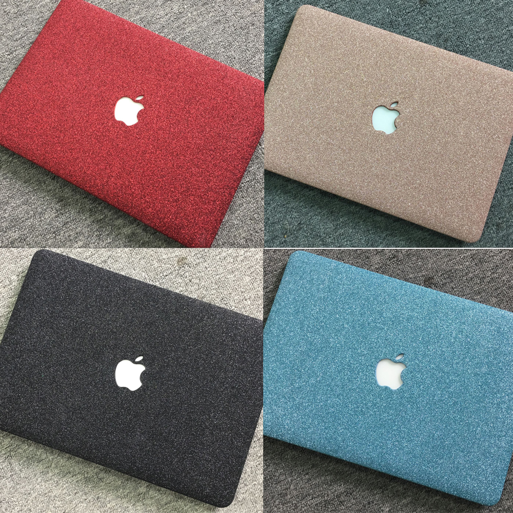 Shinning Glitter Notebook Case Sleeve For MacBook Air 11 13.3 Pro 13 15 15.6 PU Case For MacBook Retina 12 13 Laptop Cover