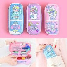 Kawaii Pencil Case Cute Cartoon School Supplies for Girls Boys Large capacity Pen Bag Penalties Cosmetic Storage Box Stationery