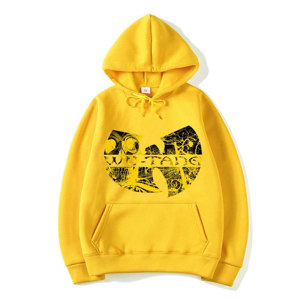 Wu Tang letter print Hoodie Fashion Hip Hop Band ICON Design Hoodies Fashion Hooded Long Sleeve Sweatshirt Rap Music Hoody Tops