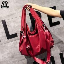 Luxury Brand Women Shoulder Bag Soft Nylon Top Handle Bags Ladies Tote Handbag High Quality Womens