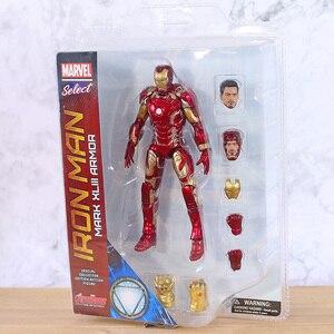 Image 2 - Figuras de acción de Marvel Select, Iron Man, MK43, Mark XLIII, muñecos de juguete, Brinquedos, modelo regalo de colección