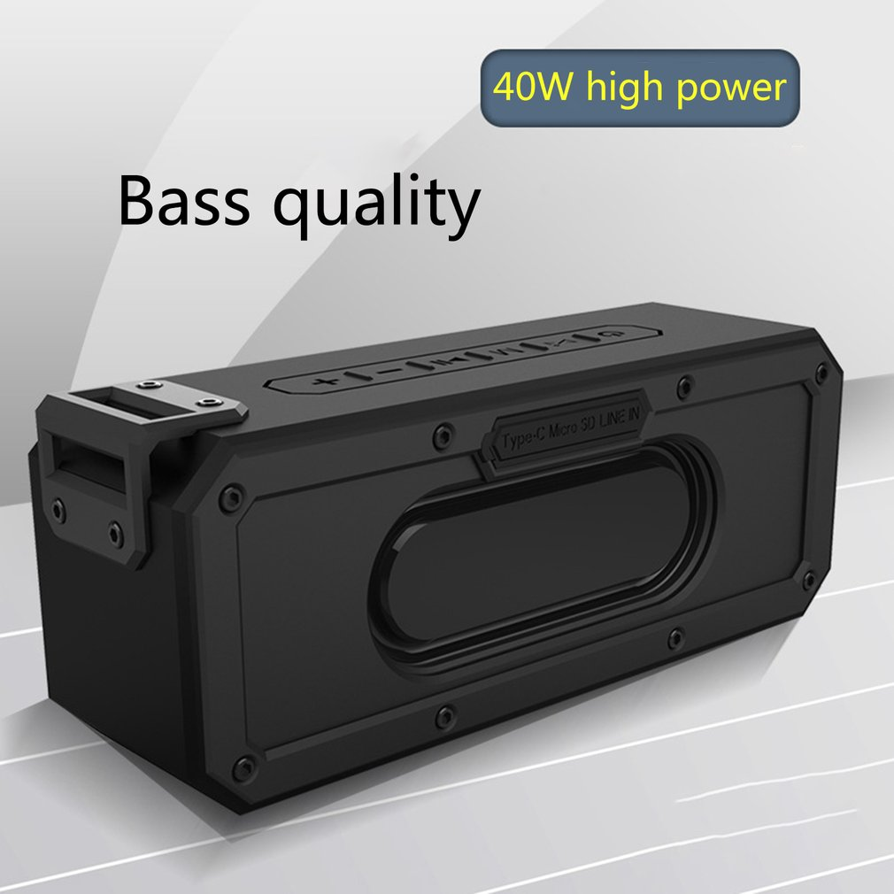 Waterproof Bluetooth Speaker Portable outdoor Rechargeable Wireless Speakers 40W/20W Dsp Wireless Audio Card Subwoofer image