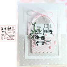 Panda Bamboos Prints Transparent Clear Silicone Stamp/Seal for DIY scrapbooking/photo album Decor card making vintage hanger design transparent clear silicone stamp seal for diy scrapbooking photo album paper card rz 086
