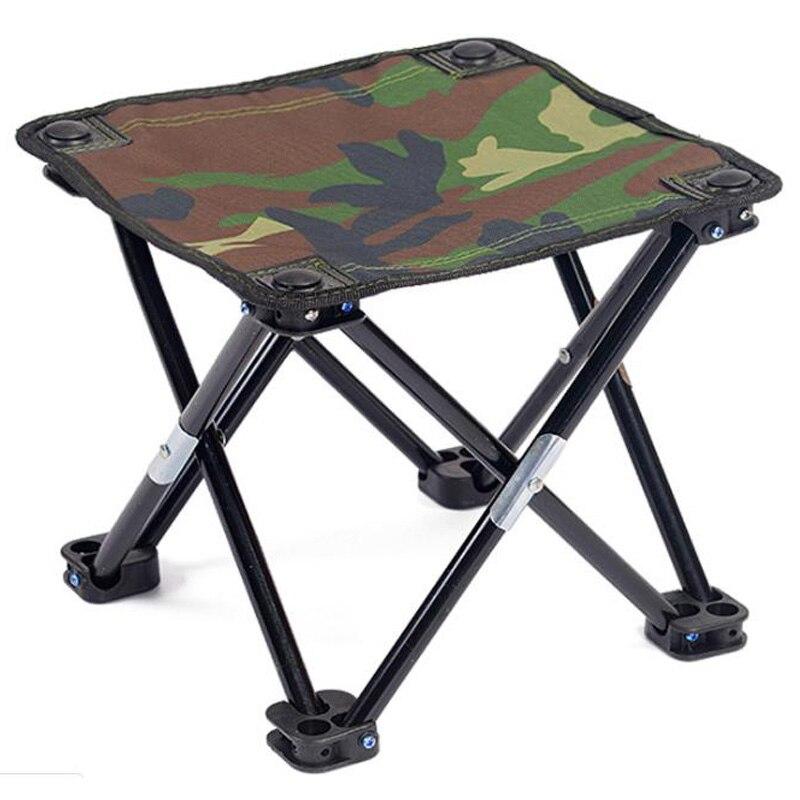 Outdoor Portable Folding Chair Mini Picnic Ultralight Fishing Stool Oxford Cloth Hiking Fishing Chair Folding Green Fishing Chairs     - title=