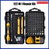 122-in-1 computer repair kit precision magnetic screwdriver set with mini toolbox for repairing phones, computers, watches, PS4