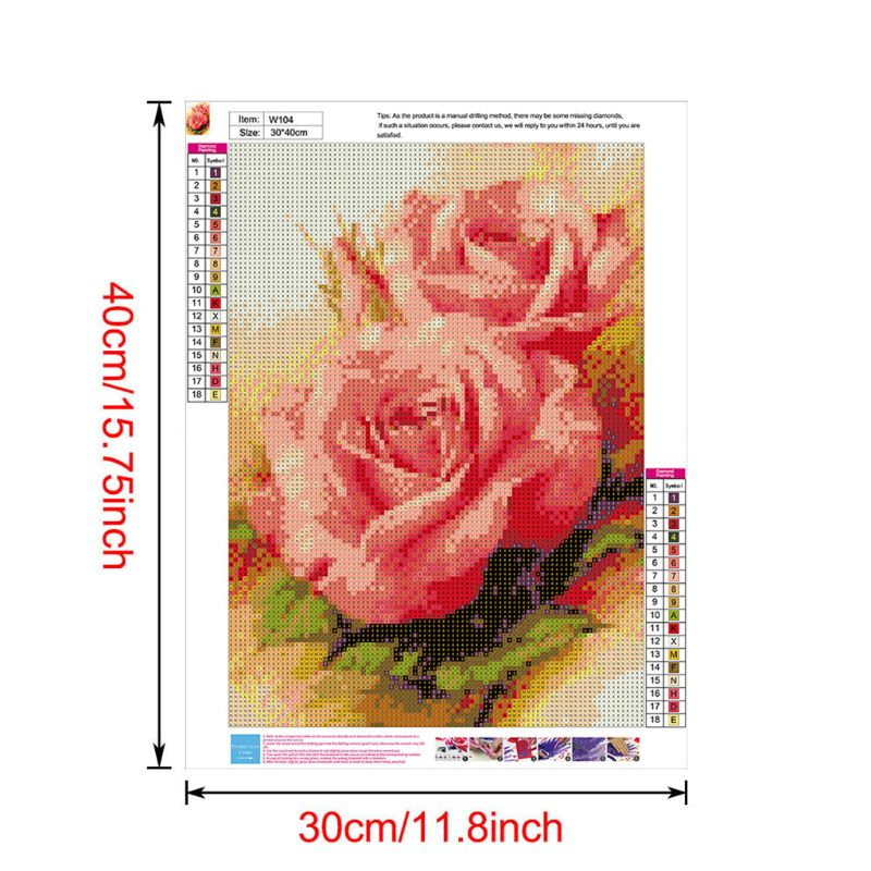 Oils Rose 5D Special Shaped Diamond Painting Embroidery Needlework Rhinestone Crystal Cross Craft Stitch Kit DIY in Diamond Painting Cross Stitch from Home Garden