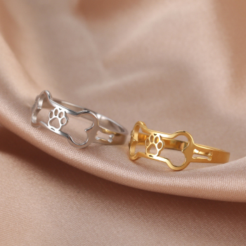 Dog Rings Gold Color  2