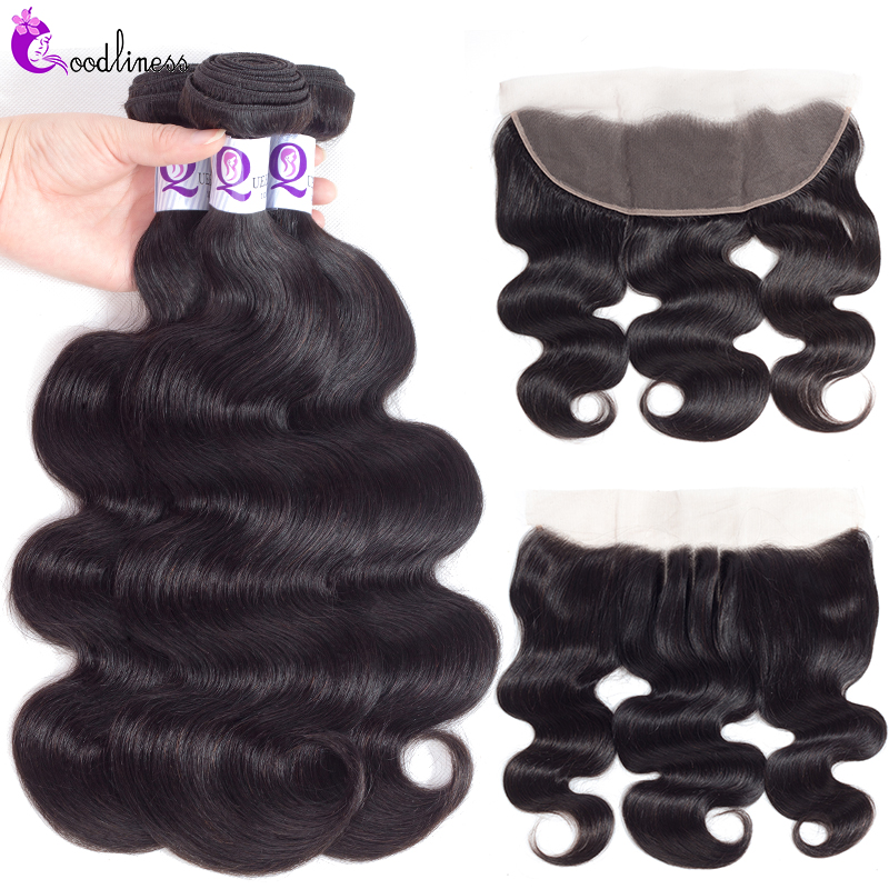 Transparent Lace Frontal Closure With Bundles Peruvian Body Wave Hair Bundles With Frontal Remy Human Hair Bundles With Frontal