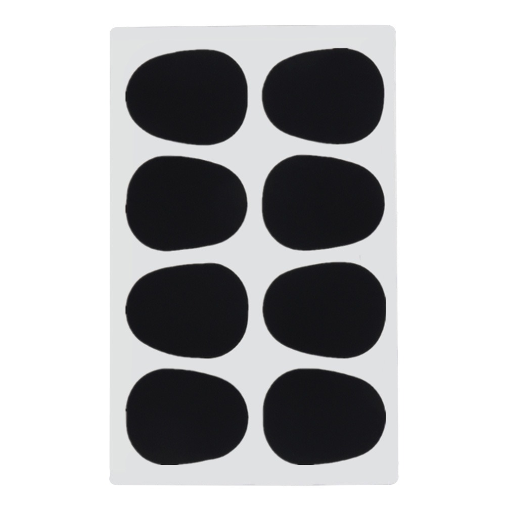 8pcs 0.8mm Mouthpiece Pad Small Black Accessories Silicone Music Cushions Alto Tenor Replacement Soft Saxophone Patches Round