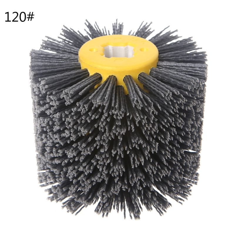 Deburring Abrasive Wire Drawing Round Brush Head Polishing Grinding Buffer Wheel 40JE