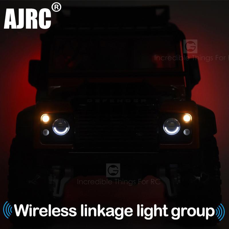 TRAXXAS TRX-4 Defender Wireless Bluetooth Linkage Lights Headlights / Daytime Running Lights / Turning Lights / Reversing Lights
