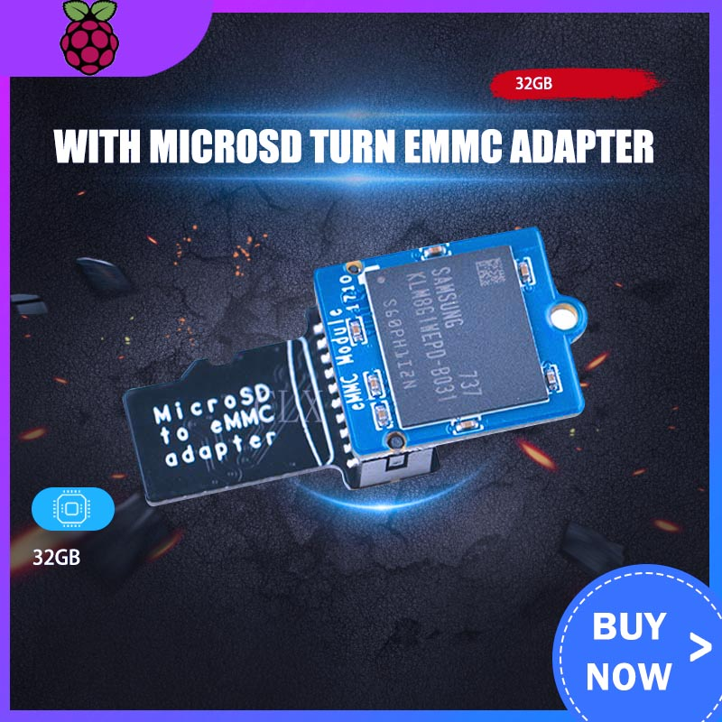 Adapter EMMC Module 32GB With MicroSD Turn EMMC Adapter Free Shipping ARM EMMC Module For NanoPi M4 Heat Sink