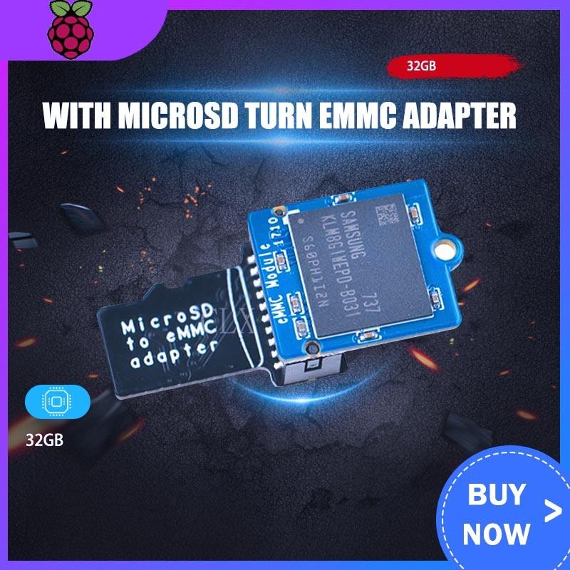 Adapter EMMC Module 32GB With MicroSD Turn EMMC Adapter Free Shipping ARM EMMC Module For NanoPi M4 Heat Sink