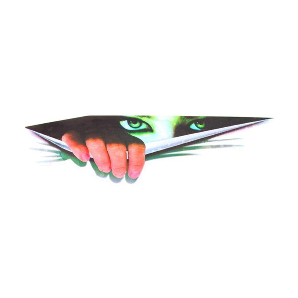 Fashionable 3D Imitation Car Sticker Vehicle Decal Motorcycle Interesting Peeping Eyes Decorative Sticker Car Window Decal