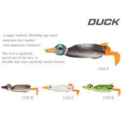 Nowy  elastyczny kaczka kształt miękkie twarde przynęty Top wody 3D symulacja pływające przynęty połowów przynęty Y51D Przynęty    -