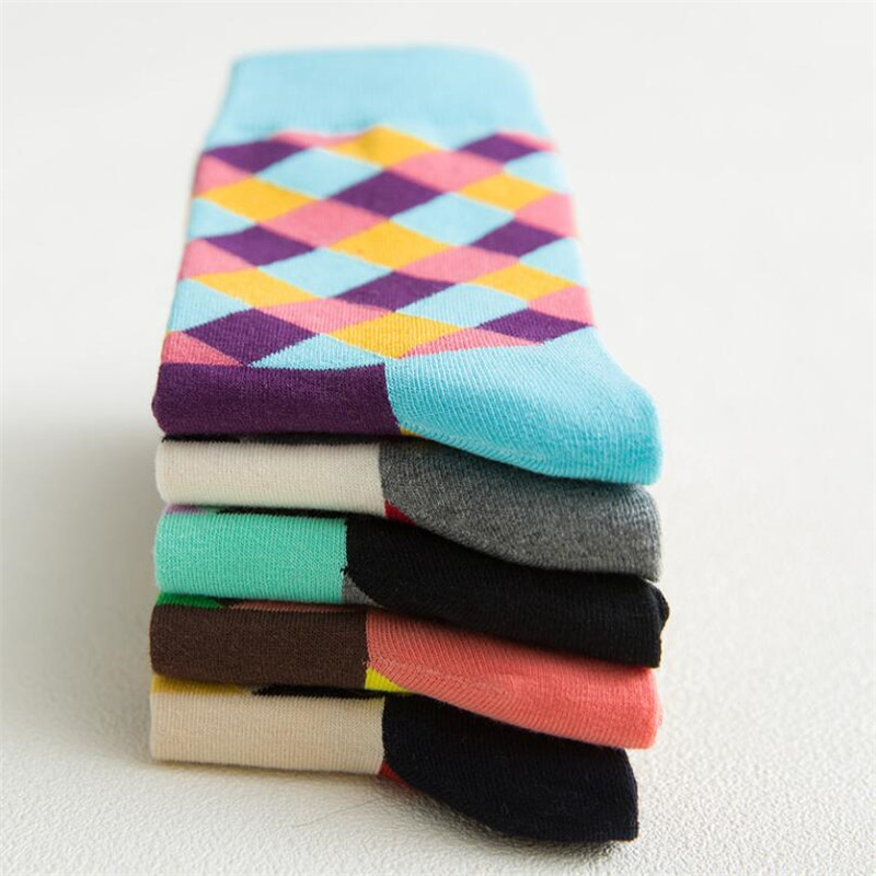 Recommend !!socks Men Cotton Autumn-winter Colorful Striped Black Socks For Men's And Male Comfortable Cotton Sock