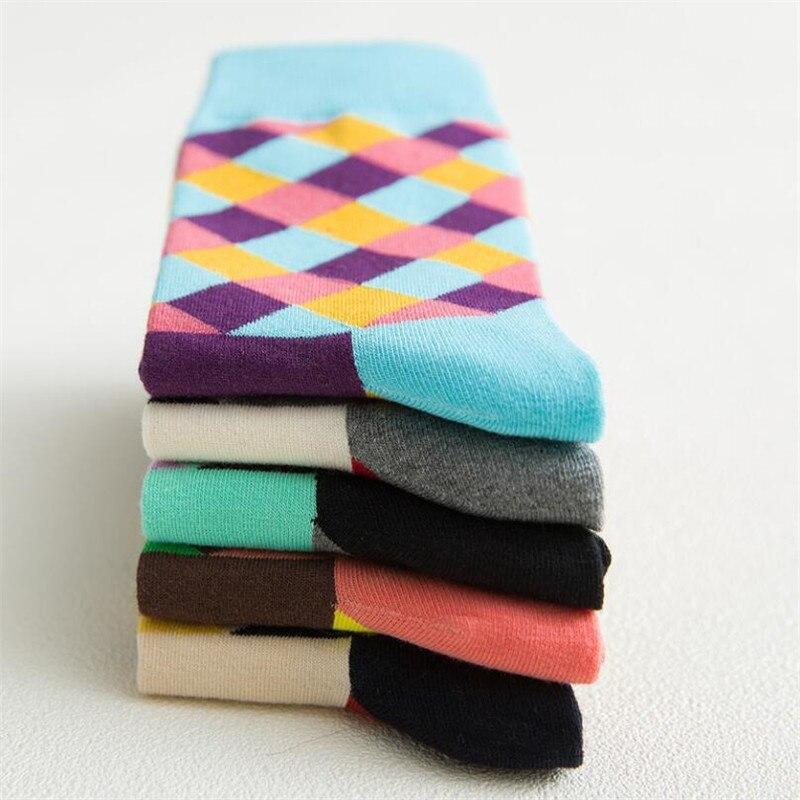 Recommend !!socks Men Cotton Autumn-winter Colorful Striped Black Socks For Men's And Male Comfortable Cotton Sock
