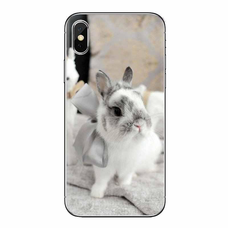 Putih Abu-abu Bayi Kelinci Poster untuk Samsung Galaxy A3 A5 A7 A9 A8 Bintang A6 Plus 2018 2015 2016 2017 lembut Transparan Kasus Penutup
