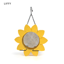 Liffy Sunflower Metal Mesh Bird Feeders for Outdoor Birds Finches Hummingbird  Dove and House Hanging Decoration