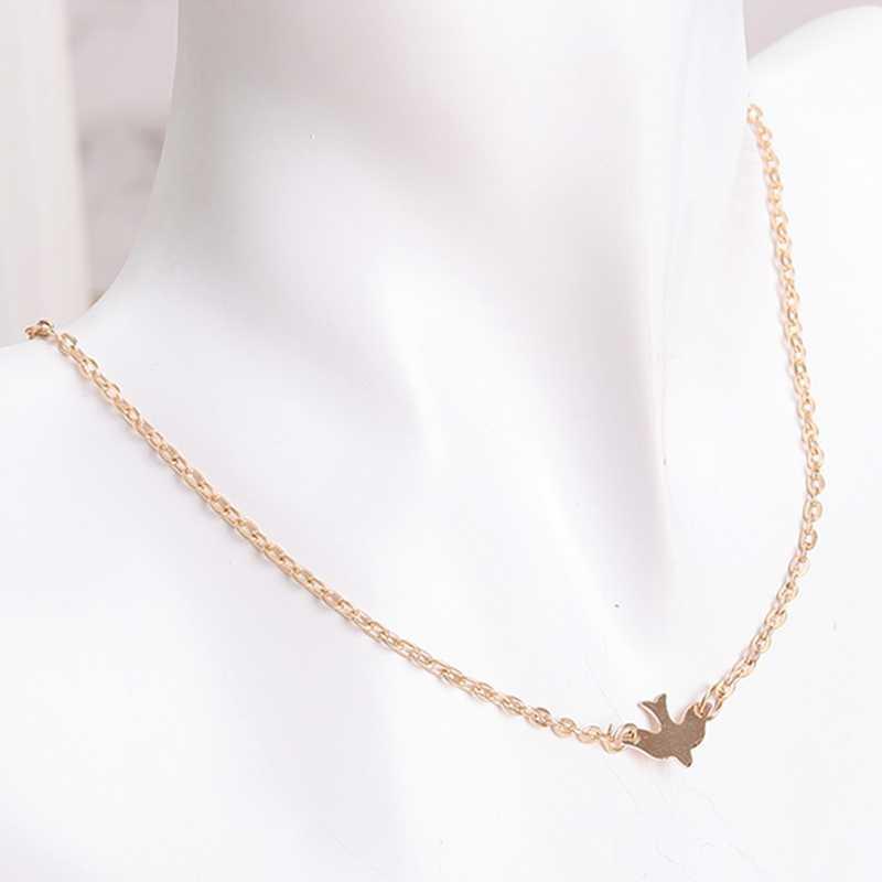Perhiasan Sederhana Paduan Burung Kalung Klavikula Rantai Pesona Wanita Fashion Perhiasan Colar Kalung untuk Wanita Hot