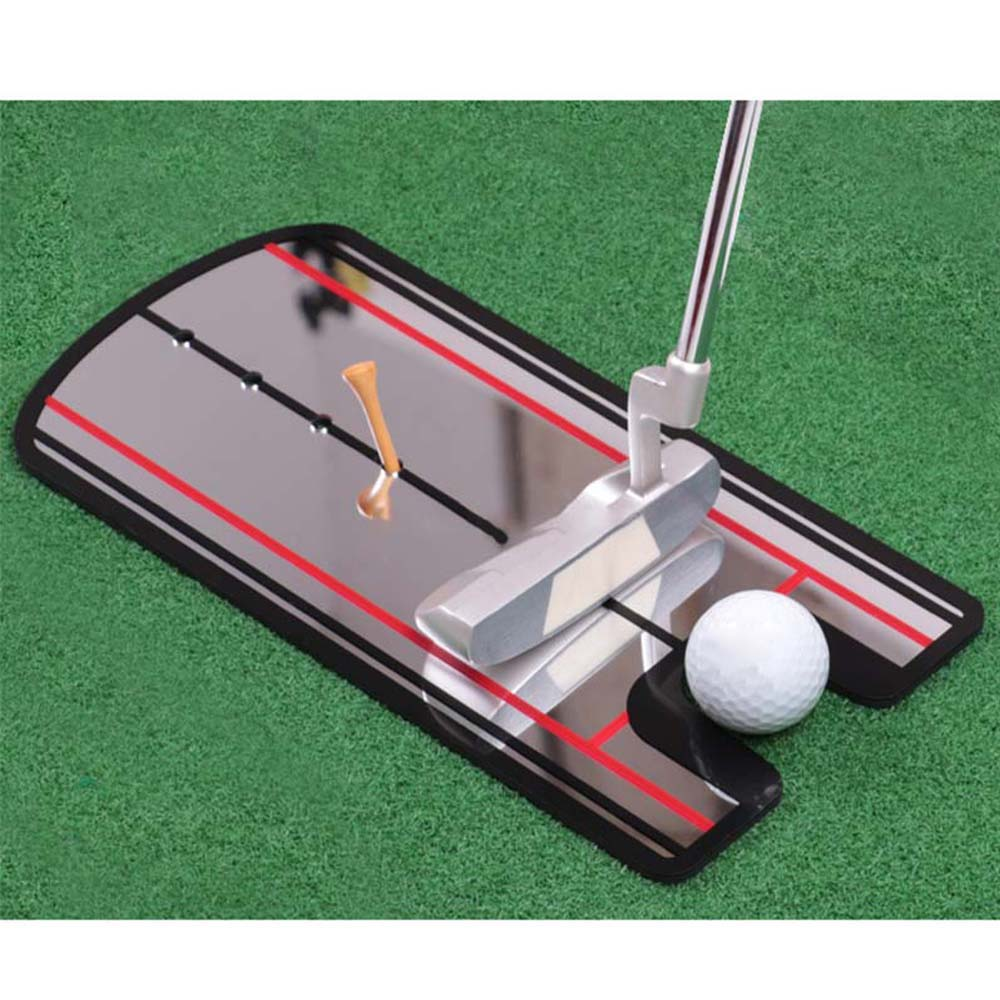 Portable Golf Putting Mirror Alignment Training Aid Swing Trainer Golf Swing Straight Eye Line Swing Trainer Golf Accessories