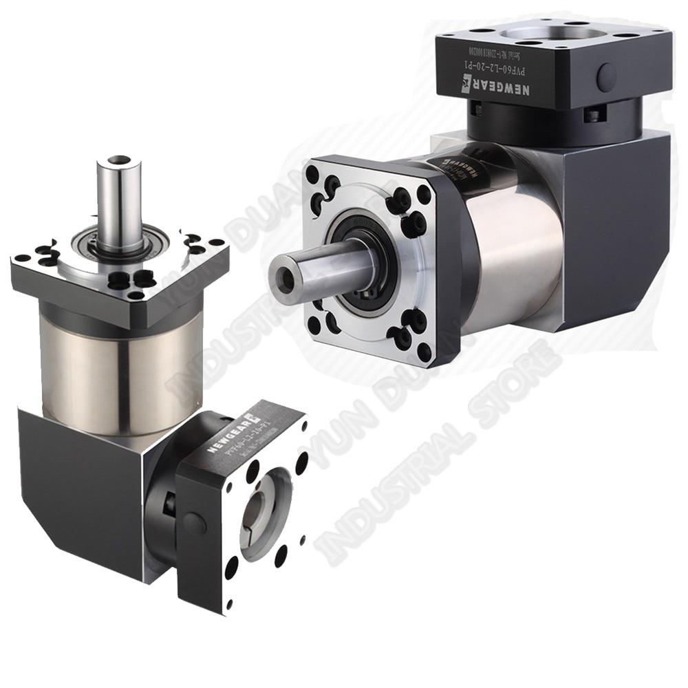 3:1 Right Angled Planetary Reducer Gearbox 90Degree Reversing Corner Reducer for NEMA24 60mm 200W 400W 600W Servo Motor