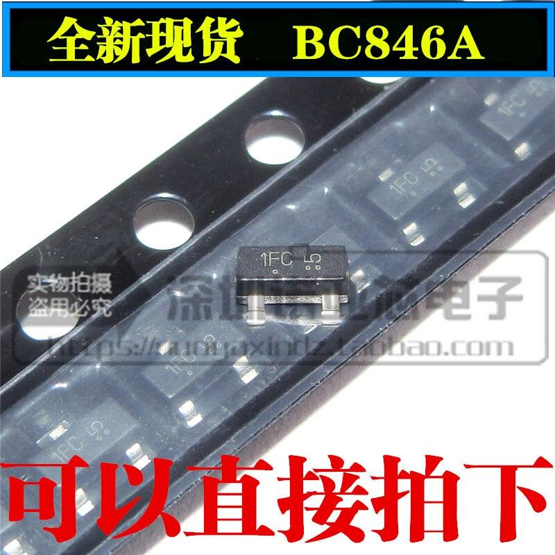 10pcs/lot New BC846A BC846 1A SOT-23 NPN Transistor