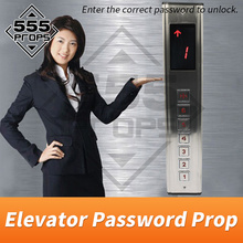 555PROPS Elevator Password Prop Escape Room Game Real life input correct password to unlock riddle game prop supplier new escape room prop computer jigsaw puzzle system puzzles pieces jxkj1987 real life room escape adventurer game